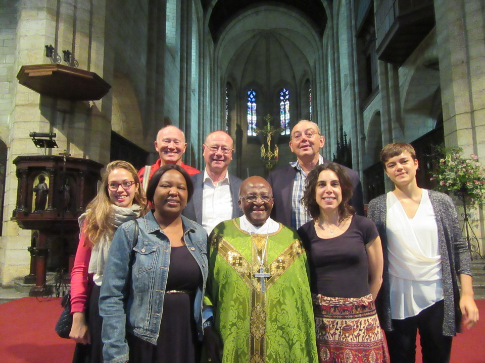 With Archbishop Tutu