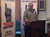 Paul Hoffman speaks at South Africa First Forum