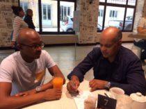 Ghalib Galant with intern Siya Boto 8th Feb 2017