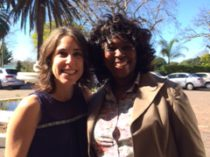 Gail Washkansky with Makhosi Khoza at Press Club 01/09/17